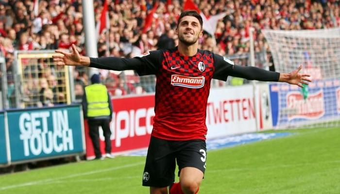 Freiburg winger Vincenzo Grifo celebrates after scoring. (Getty Images)