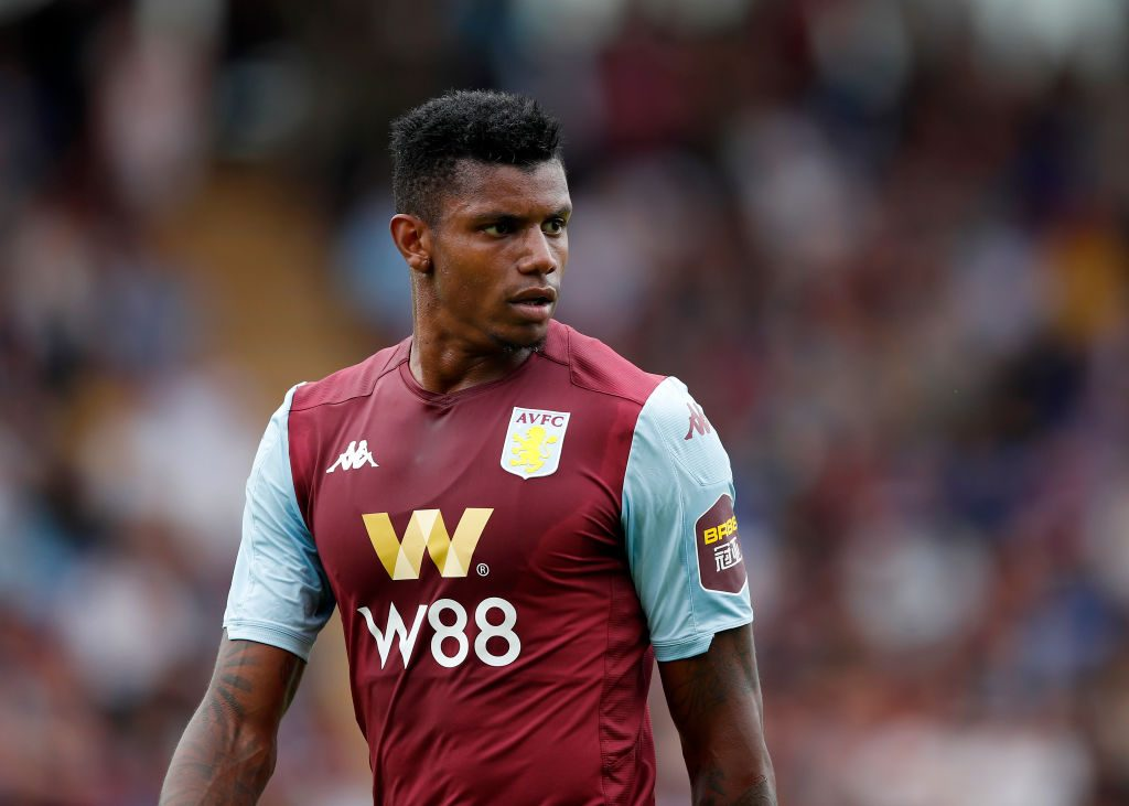 Aston Villa striker Wesley Moraes in action. (Getty Images)