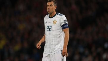 Artem Dzyuba in action for Russia. (Getty Images)