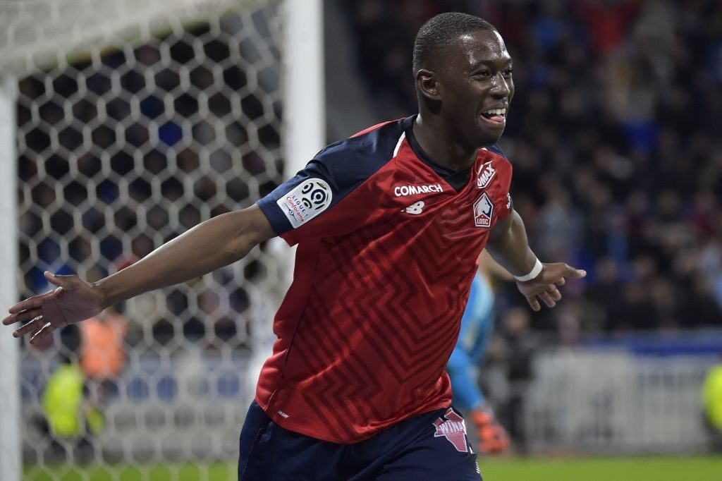 Lille midfielder Boubakary Soumare celebrates after scoring. (Getty Images)