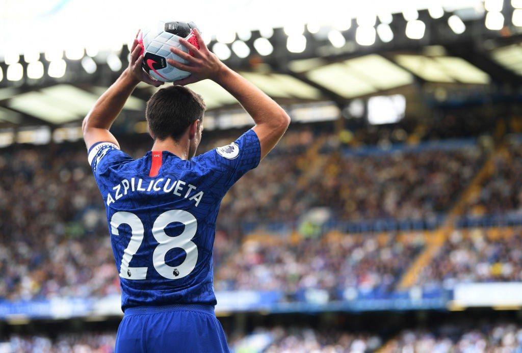 Chelsea skipper Cesar Azpilicueta.