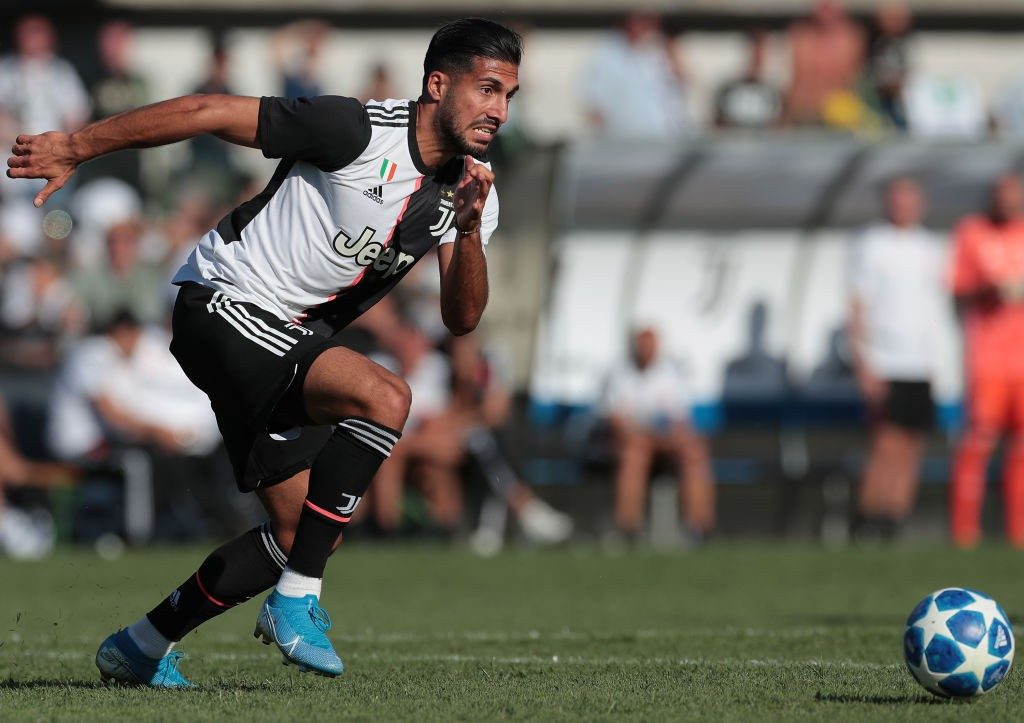 Emre Can in action for Juventus.