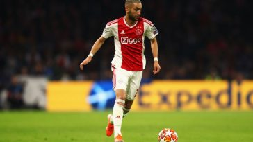 Ajax midfielder Hakim Ziyech in action. (Getty Images)