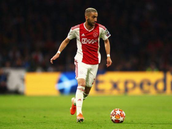 Ajax midfielder Hakim Ziyech in action. (Getty Images)