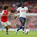 Moussa Sissoko (R) battling for possession with Matteo Guendouzi (L) in the North London derby. (Getty Images)
