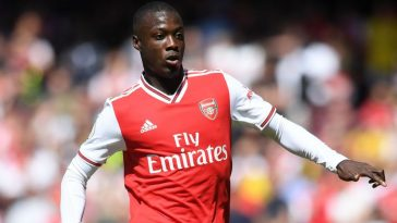 Arsenal winger Nicolas Pepe in action. (Getty Images)