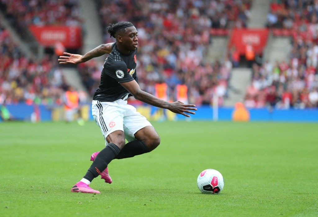 Manchester United's first-choice right-back Aaron Wan-Bissaka.