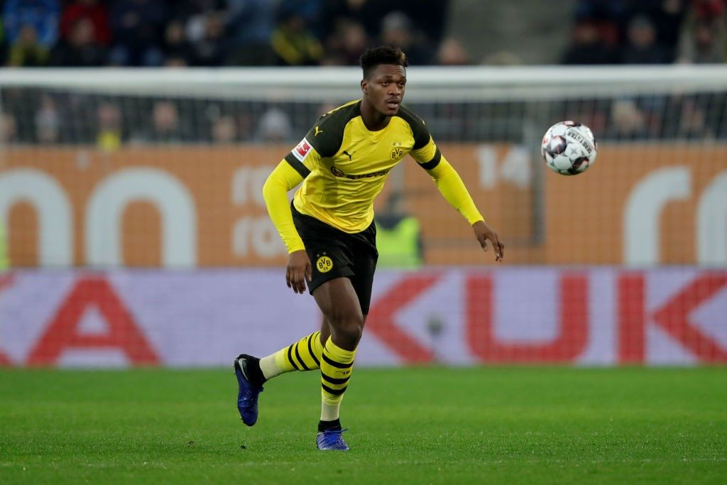 Borussia Dortmund defender Dan-Axel Zagadou in action. (Getty Images)