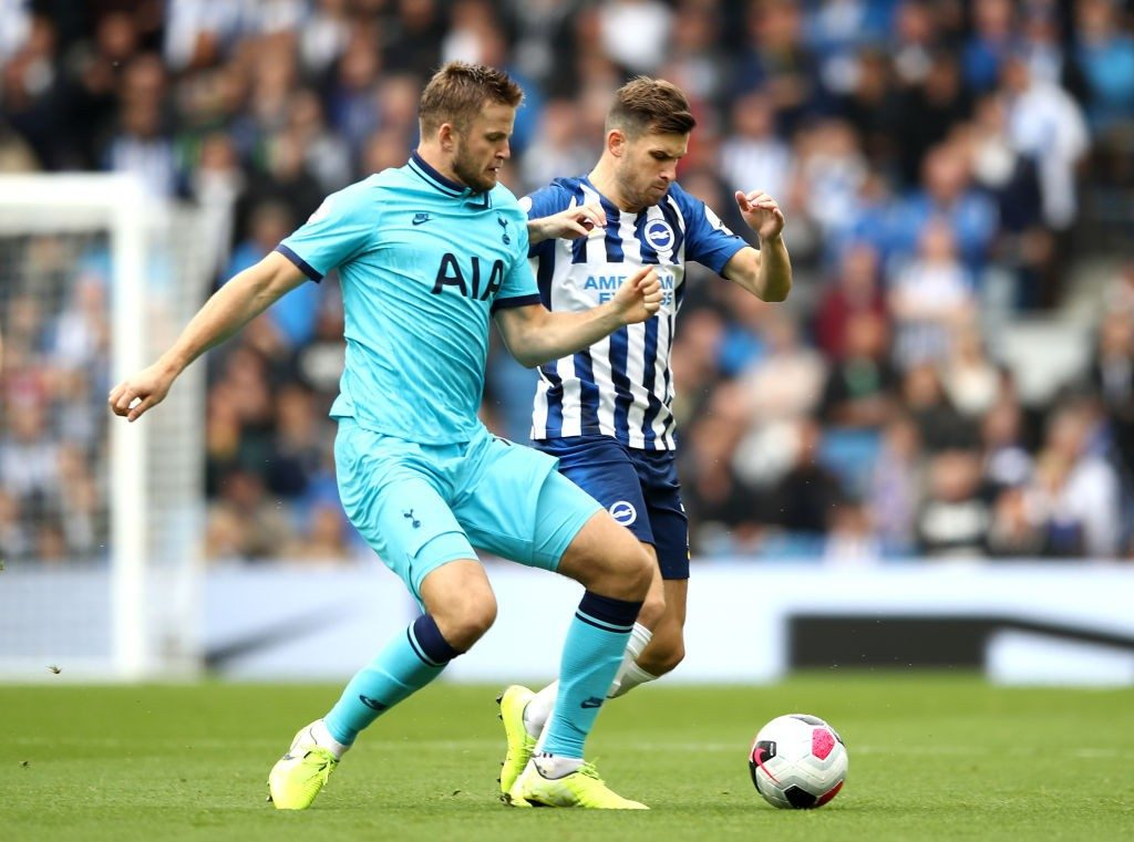 Tottenham midfielder Eric Dier in action for Brighton. (Getty Images)