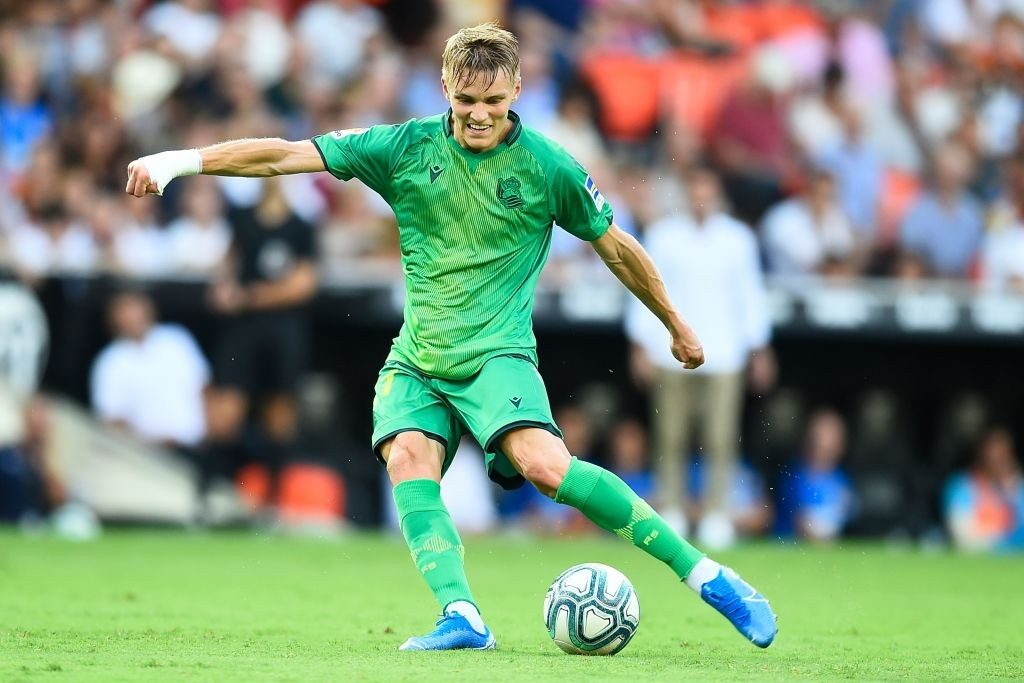 Martin Odegaard in action for Real Sociedad. (Getty Images)