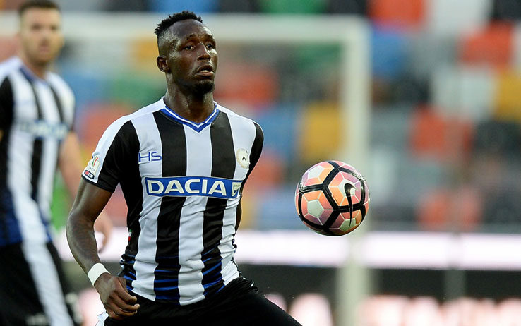 Udinese midfielder Seko Fofana in action. (Getty Images)