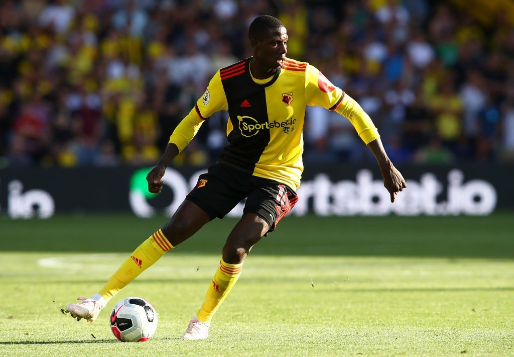 Abdoulaye Doucoure in action during a Premier League encounter between Watford and Arsenal. (Getty Images)