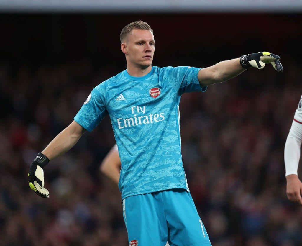 Arsenal goalkeeper Bernd Leno.