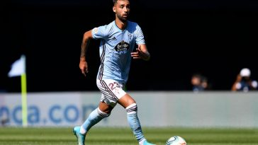 Brais Mendez of Celta Vigo in action during the La Liga match between Celta Vigo and Real Madrid. (Getty Images)