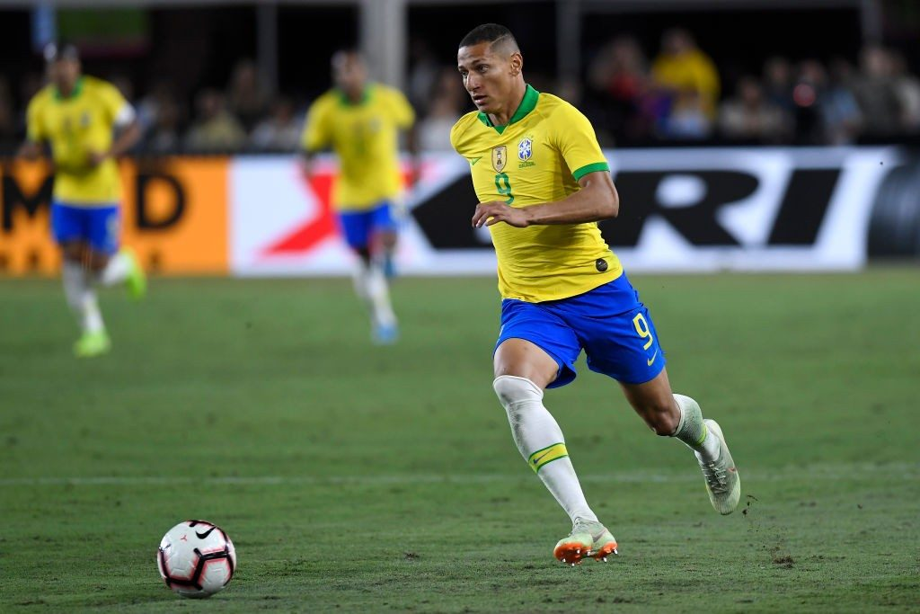 Richarlison in action for his national side Brazil.