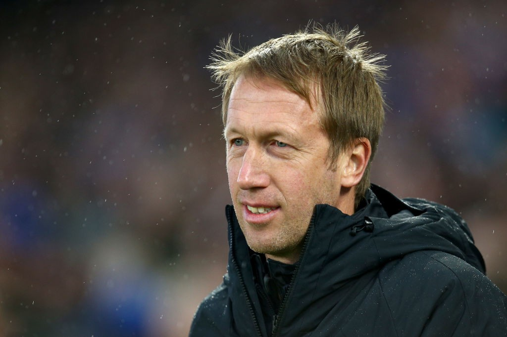 Brighton boss Graham Potter on the sidelines. (Getty Images)