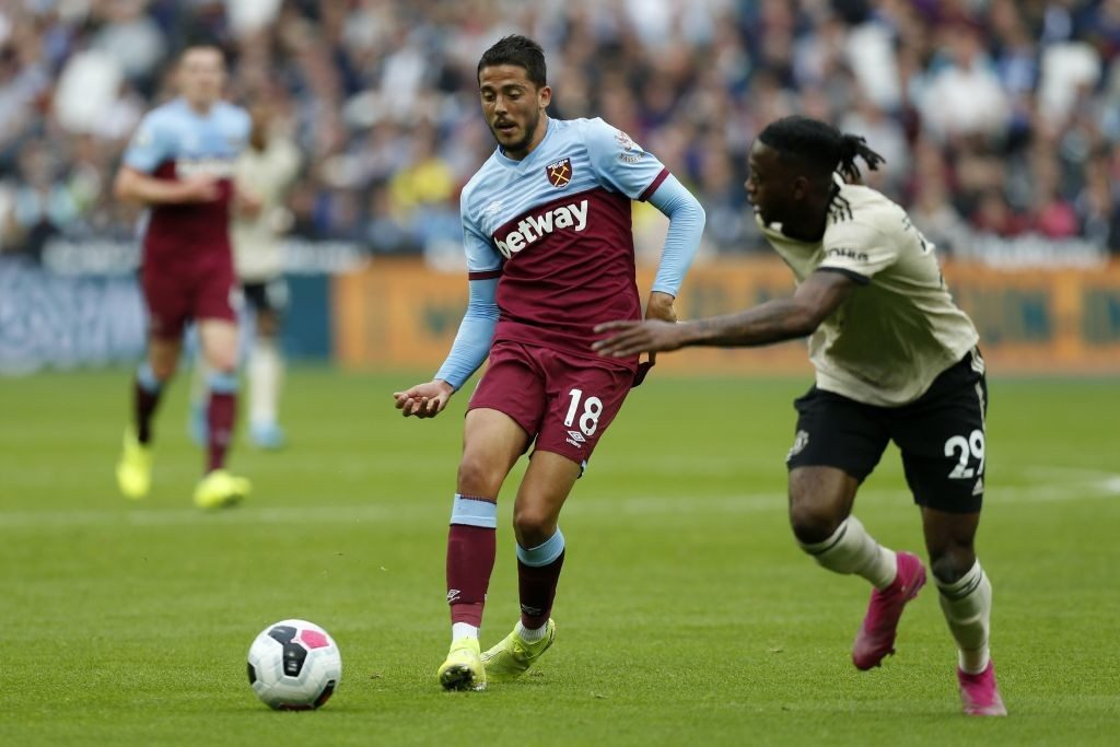 Pablo Fornals in action for West Ham.