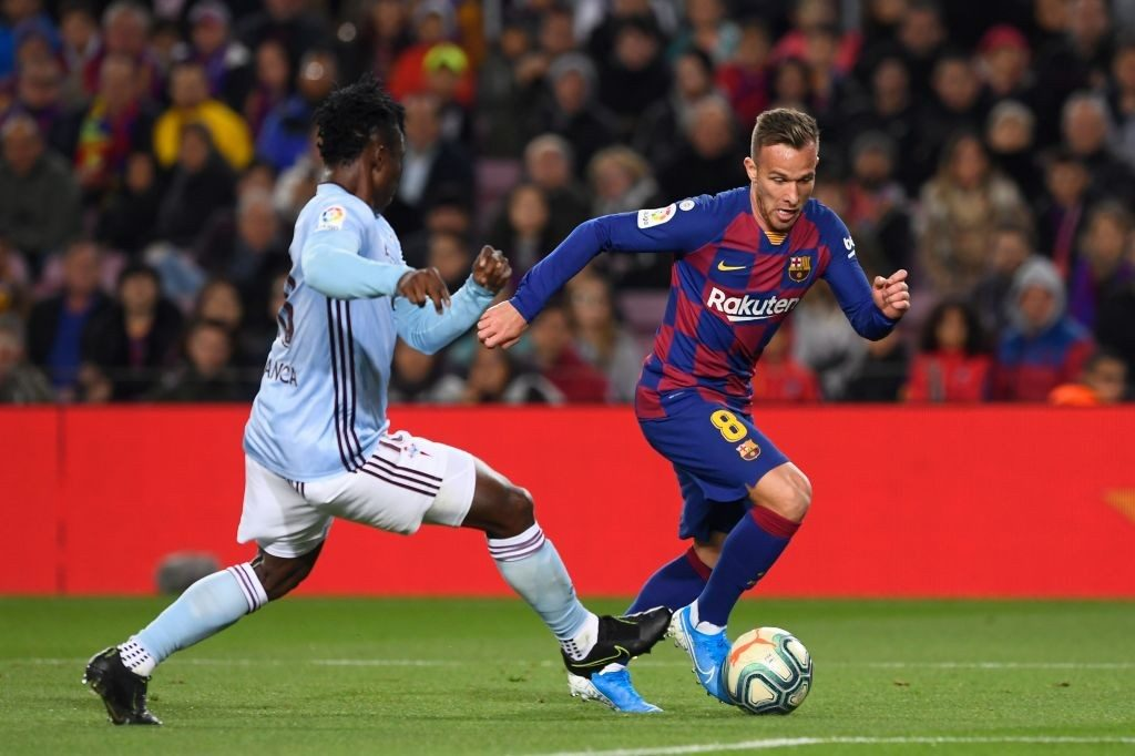 The young Arthur has been impressive for Barcelona this season.