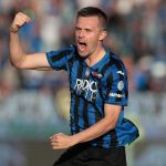 Josip Ilicic of Atalanta celebrates his second goal during the Serie A match between Atalanta BC and Udinese Calcio at Gewiss Stadium. (Getty Images)