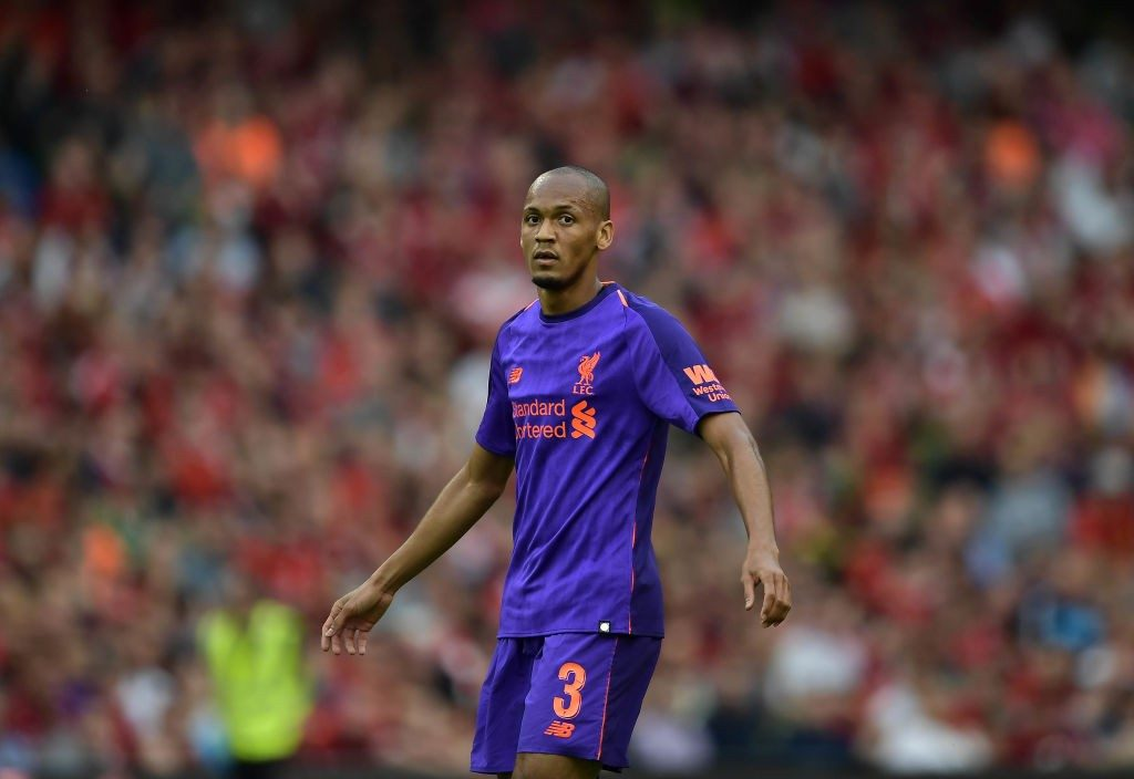 Fabinho in action for Liverpool.
