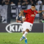 Marcos Rojo makes a pass during the UEFA Europa League group L match between Partizan Belgrade and Manchester United. (Getty Images)