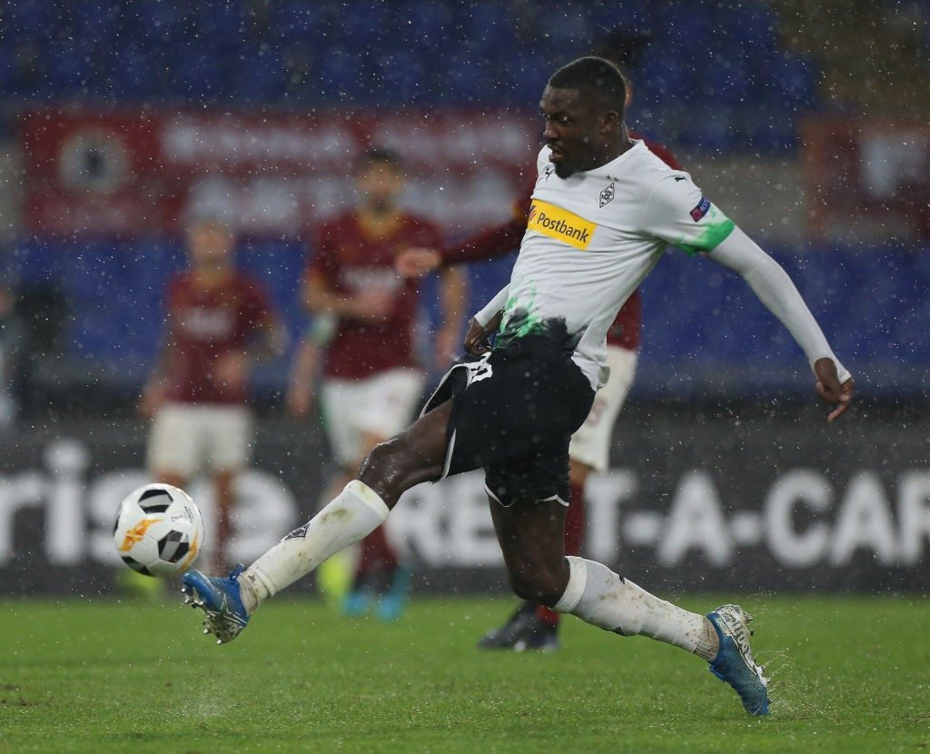 Marcus Thuram of Borussia Moenchengladbach in action during the UEFA Europa League group J match between AS Roma and Borussia Moenchengladbach at Stadio Olimpico. (Getty Images)