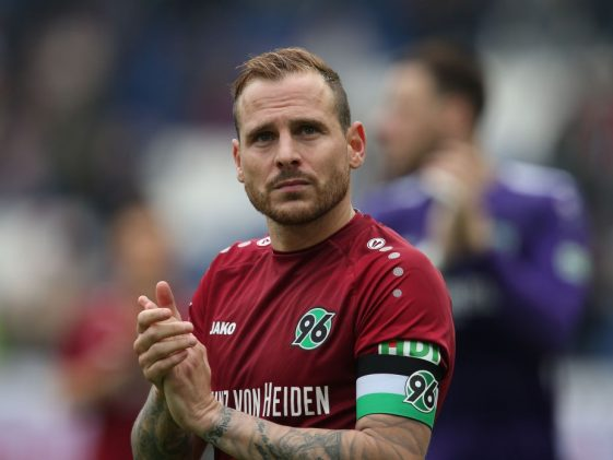 Marvin Bakalorz of Hannover 96 is disappointed of being relegated after the Bundesliga match between Hannover 96 and Sport-Club Freiburg. (Getty Images)