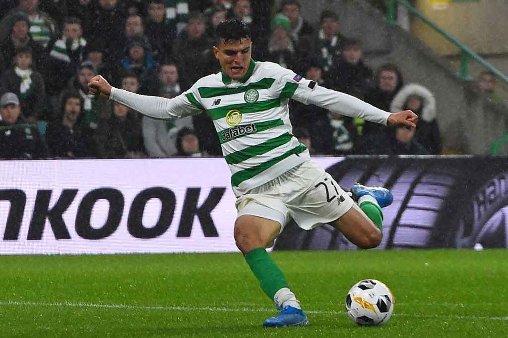 Mohamed Elyounoussi in action for Celtic. (Getty Images)