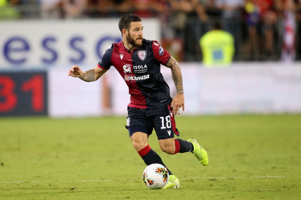 Nahitan Nandez of Cagliari in action during the Serie A match between Cagliari Calcio and Hellas Verona at Sardegna Arena. (Getty Images)