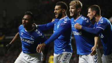 Rangers celebrate scoring a goal (Getty Images)