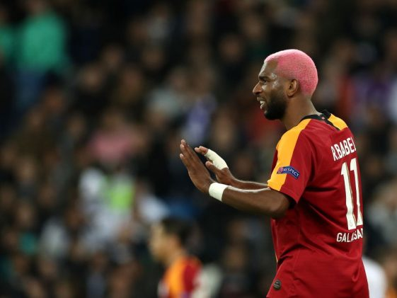 Ryan Babel of Galatasaray reacts during the UEFA Champions League group A match between Real Madrid and Galatasaray at Bernabeu. (Getty Images)