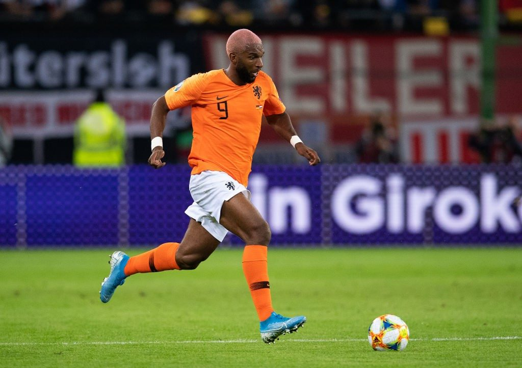Ryan Babel of The Netherlands controls the ball during the UEFA Euro 2020 qualifier match between Germany and Netherlands at Volksparkstadion. (Getty Images)
