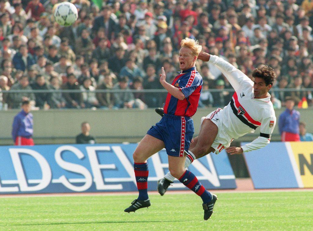 Ronald Koeman during his playing days at Barcelona.