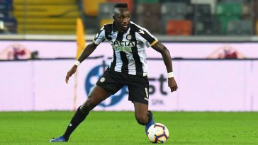 Seko Fofana of Udinese Calcio in action during the Serie A match between Udinese and SSC Napoli at Stadio Friuli. (Getty Images)