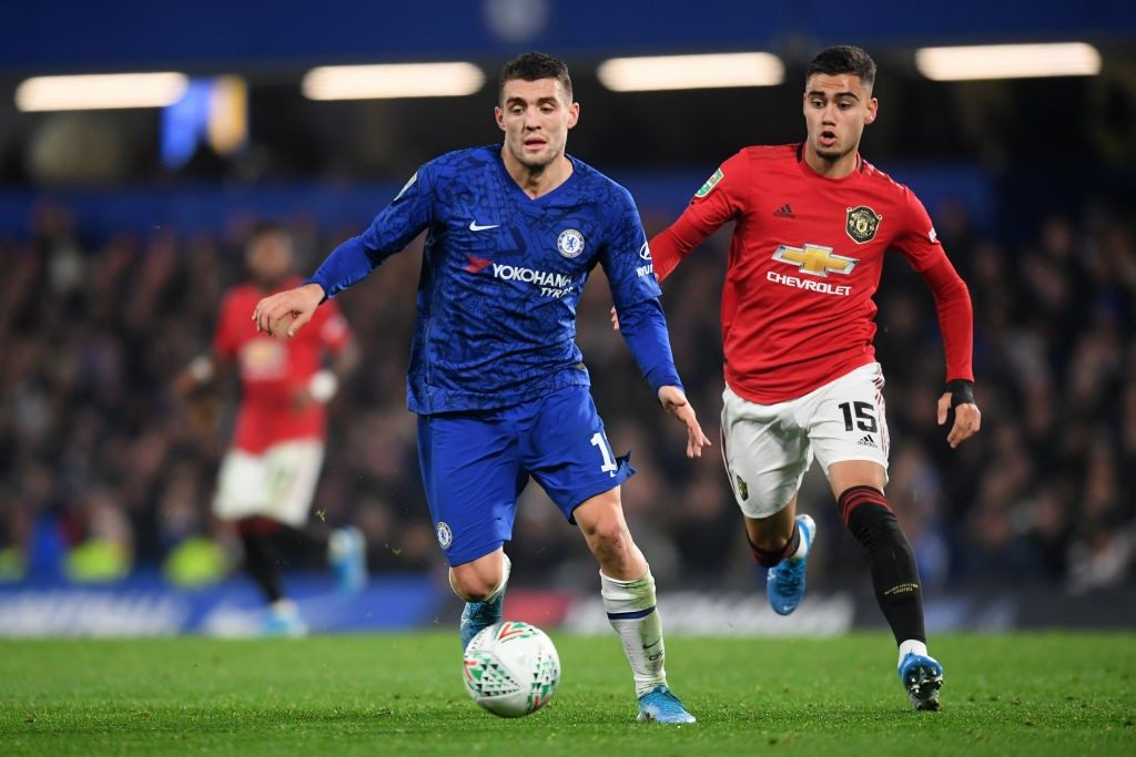 Chelsea's Mateo Kovacic is suspended for the game against Southampton after picking up his fifth booking of the season playing against Tottenham.