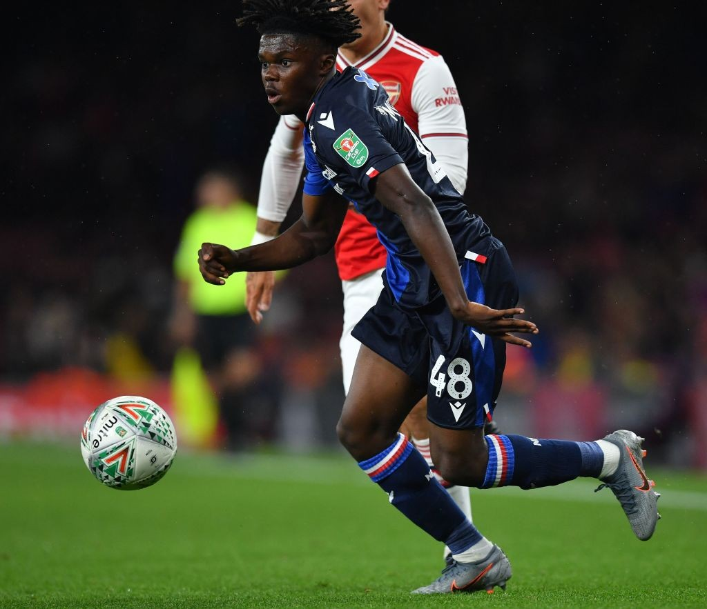 Nottingham Forest's English midfielder Alex Mighten runs with the ball during the English League Cup third round football match between Arsenal and Nottingham Forest at the Emirates Stadium in London. (Getty Images)