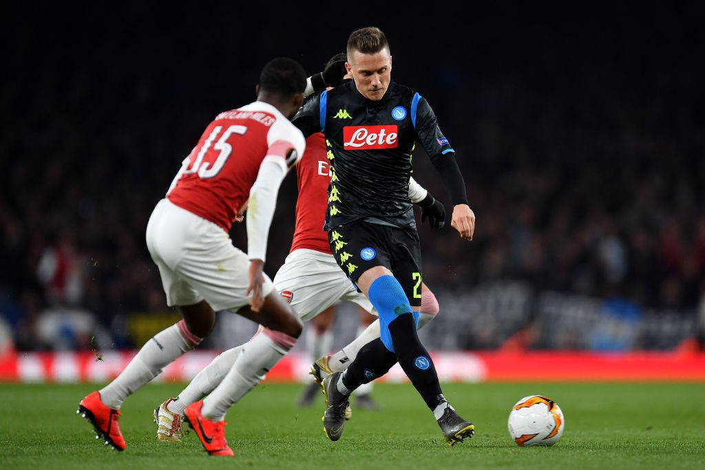 Zielinski playing against Arsenal.