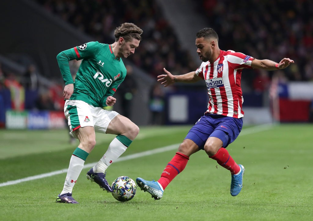 Miranchuk in action against Atletico Madrid.