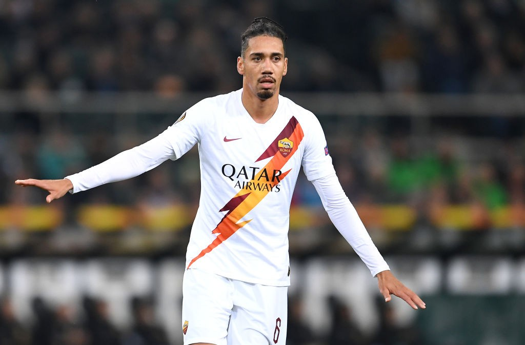 Smalling in AS Roma colours.