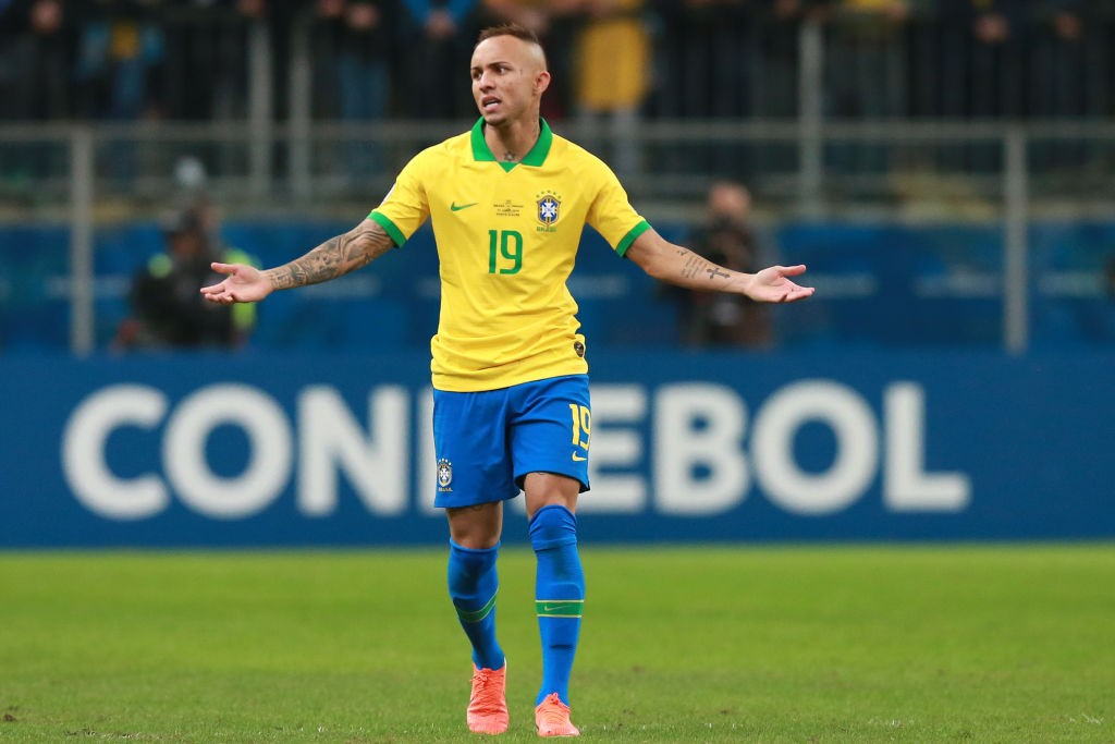 Everton while playing for Brazil.