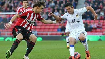 Brian Montenegro during his spell at Leeds United. (Getty Images)