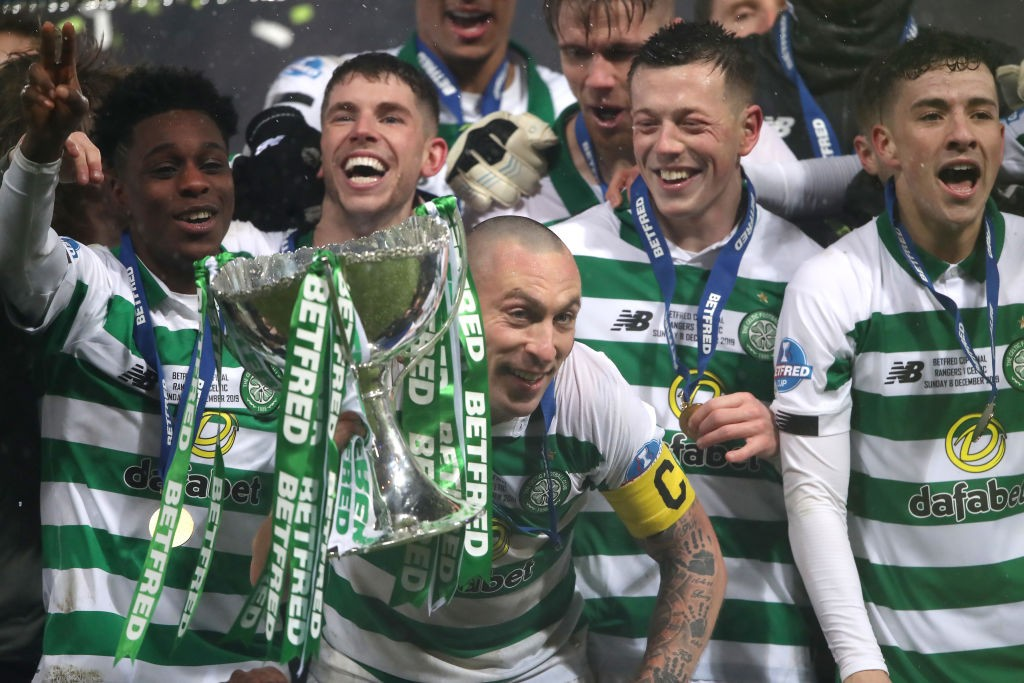 Hoops won the Betfred cup recently