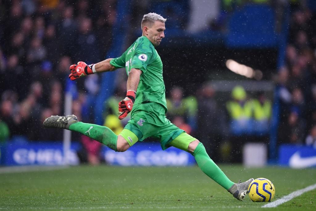 Crystal Palace goalkeeper Vicente Guaita.