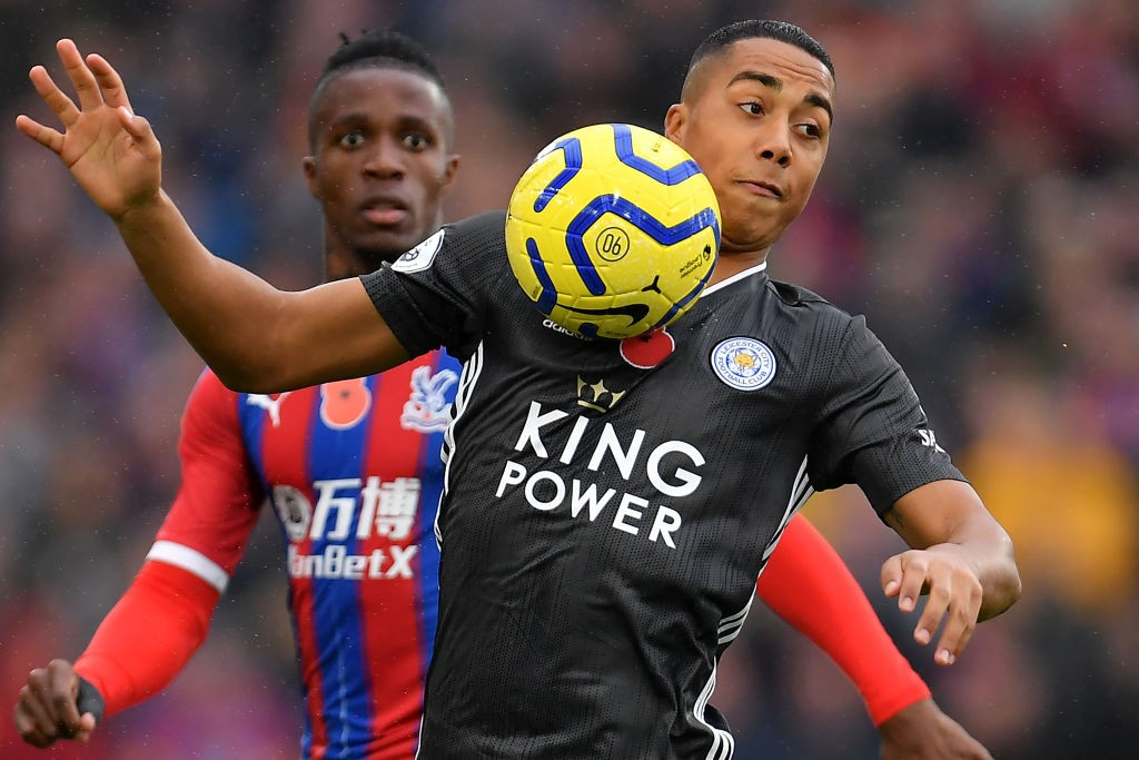 Youri Tielemans of Leicester City in action during a match against Crystal Palace.