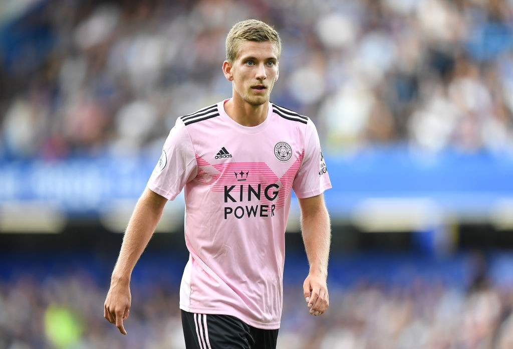 Dennis Praet of Leicester City looks on during the Premier League match between Chelsea FC and Leicester City at Stamford Bridge. (Getty Images)