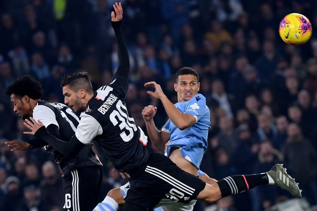 Felipe tries to clear a ball in their Serie A match against Juventus.