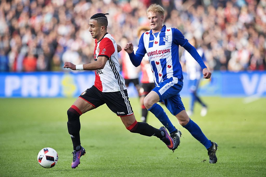 Bilal Basacikoglu dribbles past a player during his days with Feyenoord.