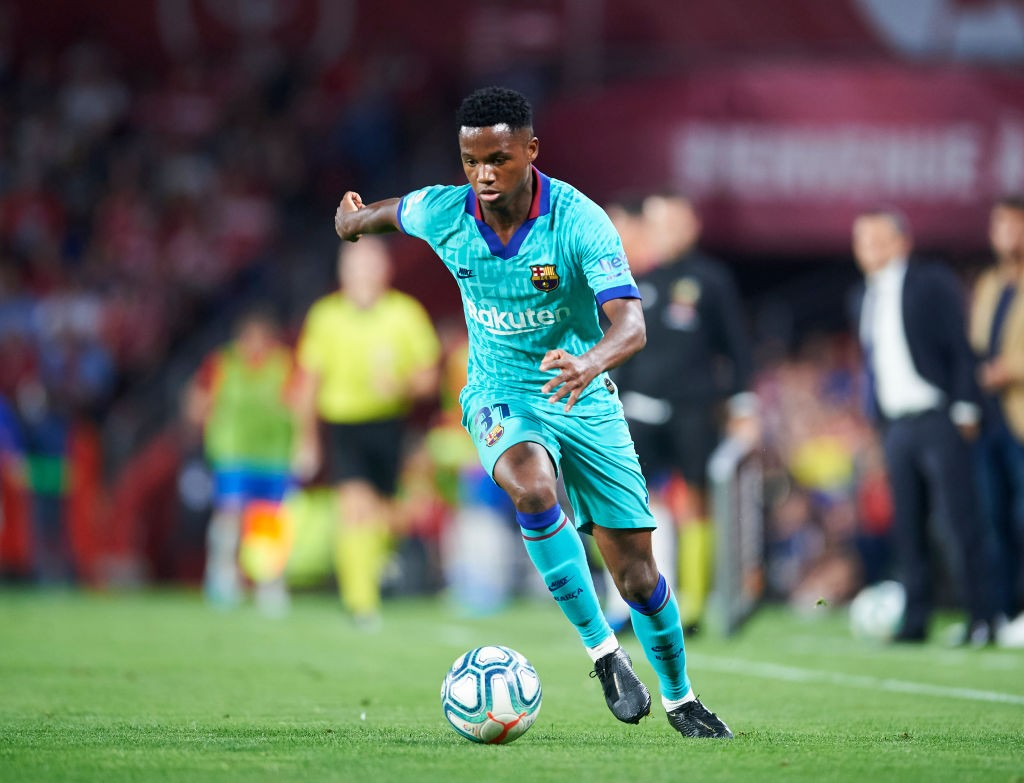 Ansu Fati in full flow for Barcelona.