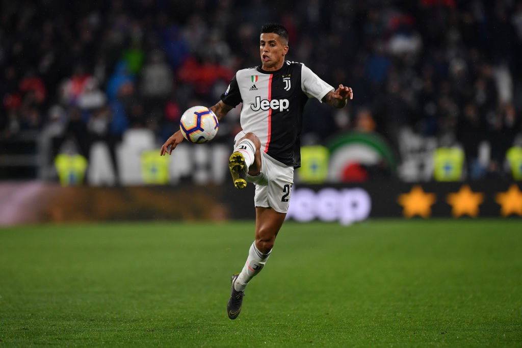 Cancelo while playing for Juventus last season.