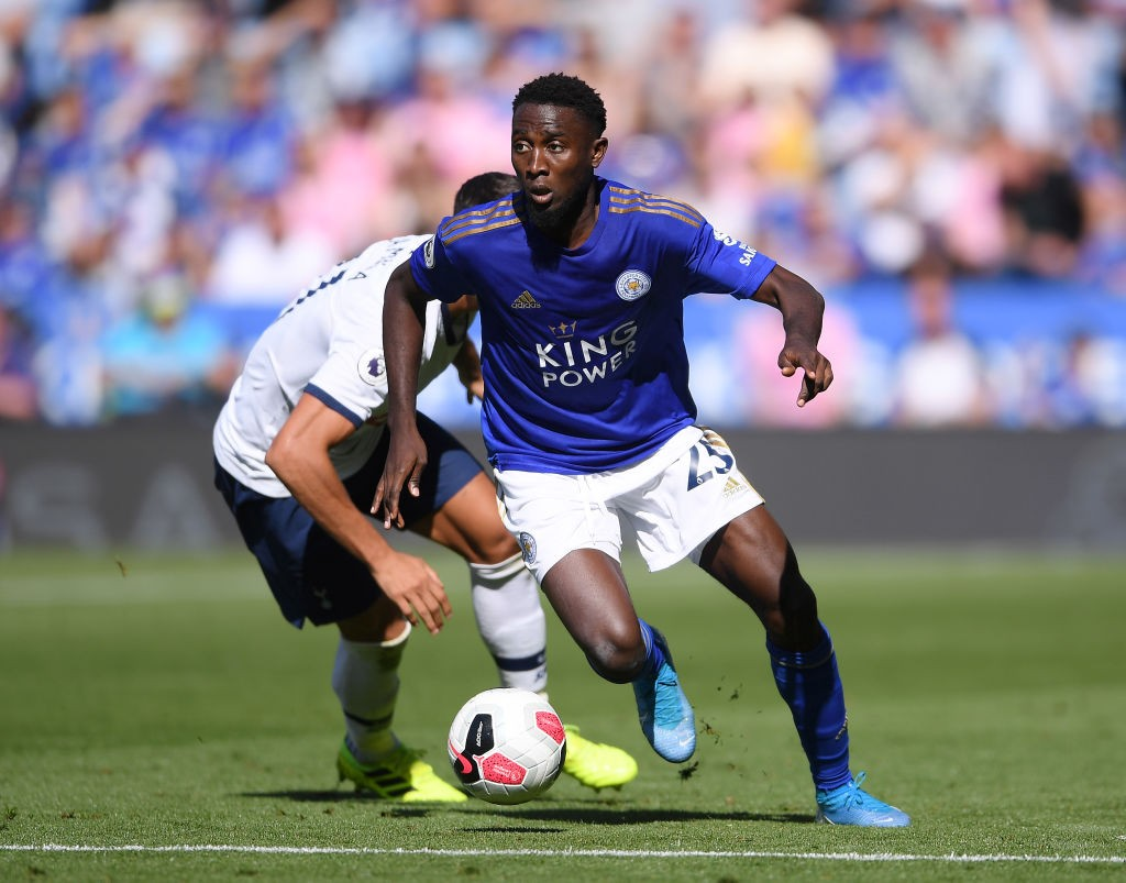 Leicester City defensive midfielder Wilfred Ndidi in action against Tottenham.